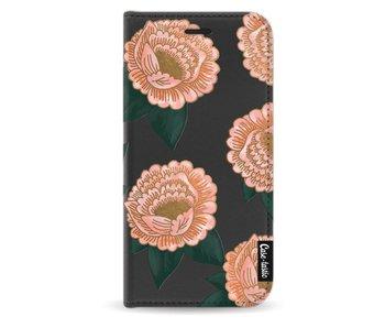 Winterly Flowers - Wallet Case Black Motorola Moto G5