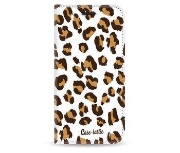 Leopard Print - Wallet Case White Apple iPhone 5 / 5s / SE