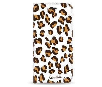 Leopard Print - Wallet Case White Samsung Galaxy J3 (2017)