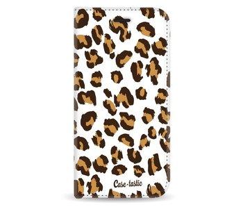 Leopard Print - Wallet Case White Samsung Galaxy J5 (2017)