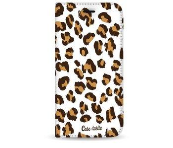 Leopard Print - Wallet Case White Apple iPhone 8 Plus
