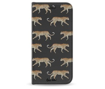 Hunting Leopard - Wallet Case Black Apple iPhone 7