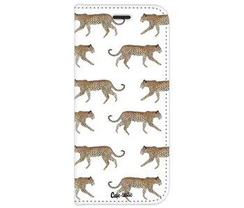 Hunting Leopard - Wallet Case White Samsung Galaxy J7 (2017)