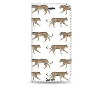 Hunting Leopard - Wallet Case White Samsung Galaxy J5 (2017)
