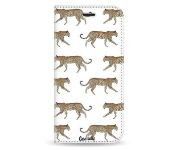 Hunting Leopard - Wallet Case White Apple iPhone X