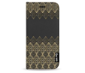 Golden Diamonds - Wallet Case Black Apple iPhone 6