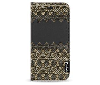 Golden Diamonds - Wallet Case Black Apple iPhone 6