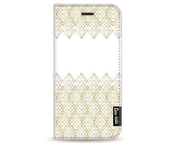 Golden Diamonds - Wallet Case White Apple iPhone 6