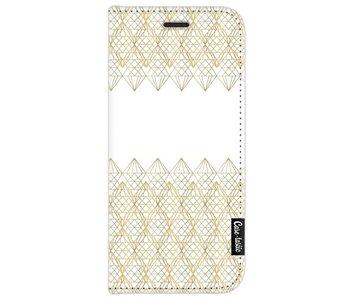 Golden Diamonds - Wallet Case White Samsung Galaxy J7 (2017)