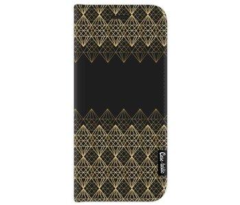 Golden Diamonds - Wallet Case Black Samsung Galaxy J7 (2017)
