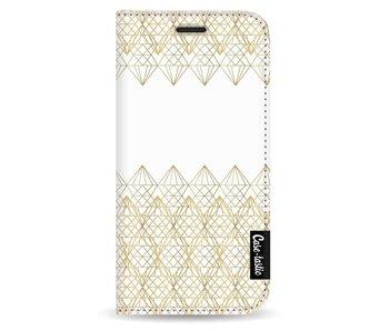 Golden Diamonds - Wallet Case White Apple iPhone 5 / 5s / SE