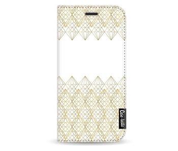 Golden Diamonds - Wallet Case White Samsung Galaxy A3 (2017)