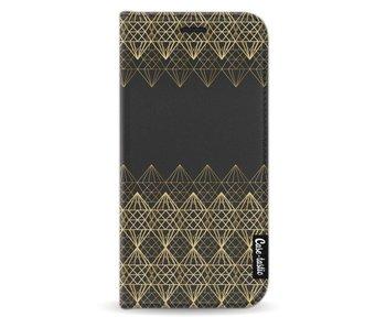 Golden Diamonds - Wallet Case Black Samsung Galaxy A3 (2017)