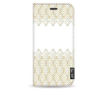 Golden Diamonds - Wallet Case White Samsung Galaxy A5 (2017)