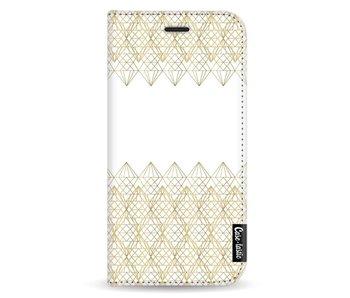 Golden Diamonds - Wallet Case White Samsung Galaxy J3 (2017)