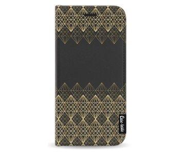 Golden Diamonds - Wallet Case Black Samsung Galaxy J5 (2017)