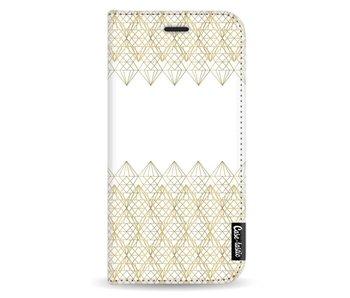 Golden Diamonds - Wallet Case White Samsung Galaxy J5 (2017)