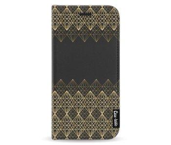 Golden Diamonds - Wallet Case Black Apple iPhone X