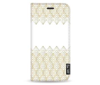 Golden Diamonds - Wallet Case White Apple iPhone X