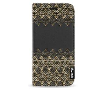 Golden Diamonds - Wallet Case Black Motorola Moto G5