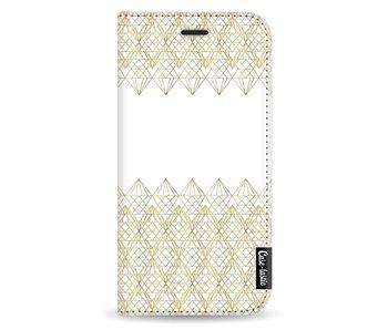 Golden Diamonds - Wallet Case White Motorola Moto G5