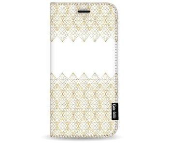 Golden Diamonds - Wallet Case White Samsung Galaxy S8 Plus