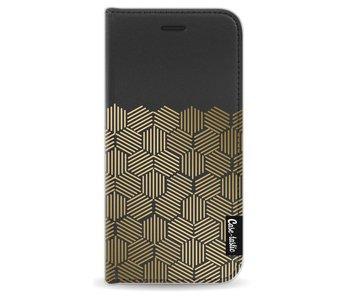 Golden Hexagons - Wallet Case Black Apple iPhone 6