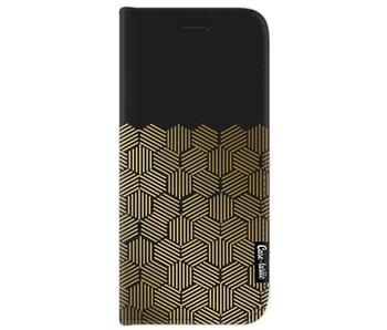 Golden Hexagons - Wallet Case Black Samsung Galaxy J7 (2017)