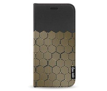 Golden Hexagons - Wallet Case Black Samsung Galaxy A3 (2017)