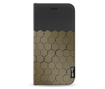 Golden Hexagons - Wallet Case Black Samsung Galaxy A5 (2017)