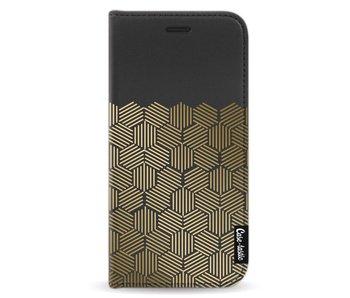 Golden Hexagons - Wallet Case Black Apple iPhone X