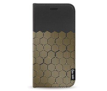 Golden Hexagons - Wallet Case Black Motorola Moto G5