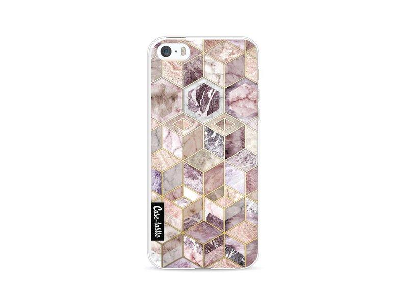 Casetastic Softcover Apple iPhone 5 / 5s / SE - Blush Quartz Honeycomb