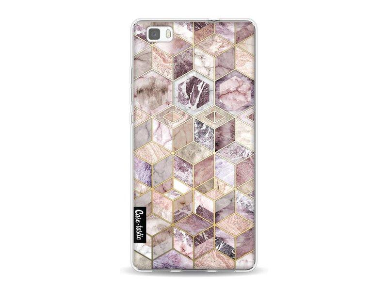 Casetastic Softcover Huawei P8 Lite - Blush Quartz Honeycomb