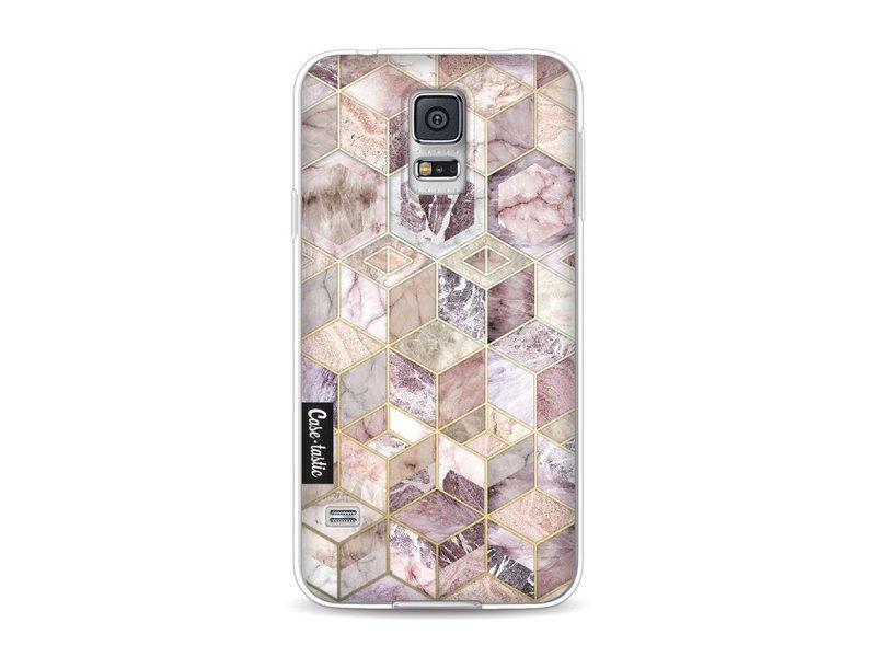 Casetastic Softcover Samsung Galaxy S5  - Blush Quartz Honeycomb