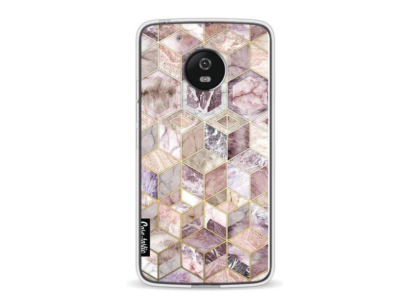Casetastic Softcover Motorola Moto G5 - Blush Quartz Honeycomb