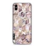 Casetastic Softcover Apple iPhone X - Blush Quartz Honeycomb