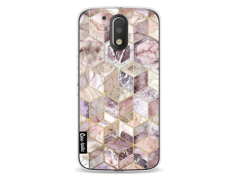 Casetastic Softcover Motorola Moto G4 / G4 Plus - Blush Quartz Honeycomb