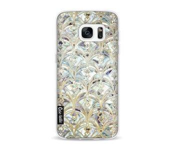 Mint Art Deco Marbling - Samsung Galaxy S7