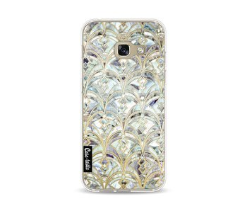 Mint Art Deco Marbling - Samsung Galaxy A3 (2017)