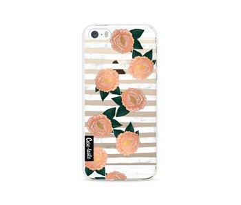 Striped Winter Flowers - Apple iPhone 5 / 5s / SE