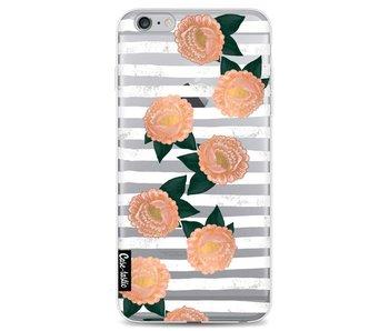 Striped Winter Flowers - Apple iPhone 6 Plus / 6s Plus