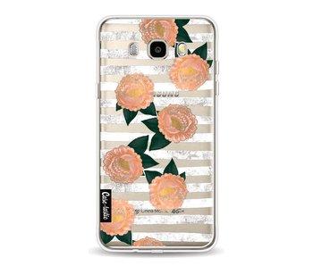 Striped Winter Flowers - Samsung Galaxy J5 (2016)