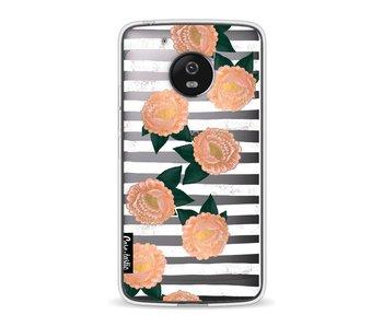 Striped Winter Flowers - Motorola Moto G5