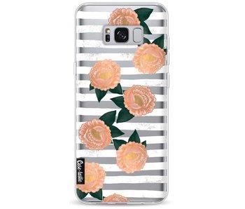 Striped Winter Flowers - Samsung Galaxy S8 Plus