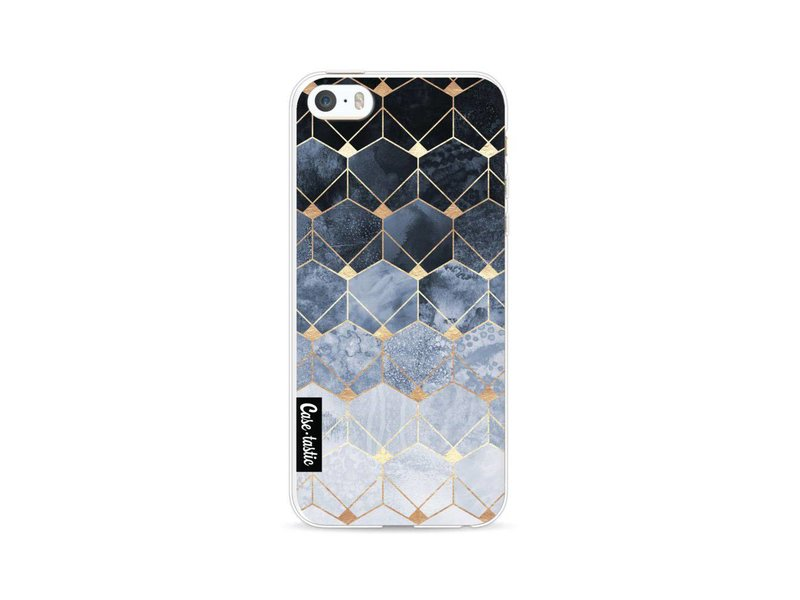 Casetastic Softcover Apple iPhone 5 / 5s / SE - Blue Hexagon Diamonds