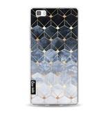 Casetastic Softcover Huawei P8 Lite - Blue Hexagon Diamonds