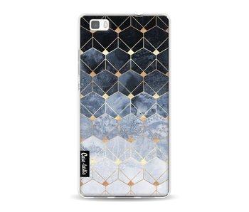 Blue Hexagon Diamonds - Huawei P8 Lite