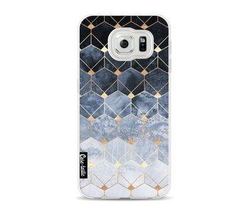 Blue Hexagon Diamonds - Samsung Galaxy S6