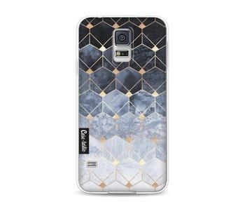 Blue Hexagon Diamonds - Samsung Galaxy S5